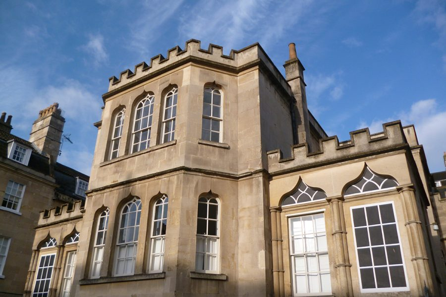 A view form the outside of the Museum of Bath Architecture